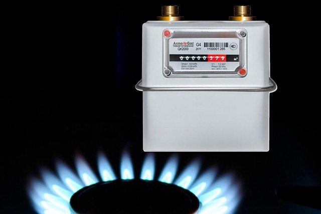 учет потребления газа