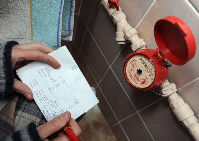 показания счетчика горячей воды