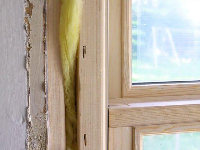 утепление деревянных окон ватой