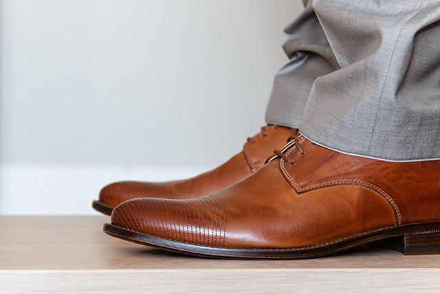 мужские ботинки из кожи