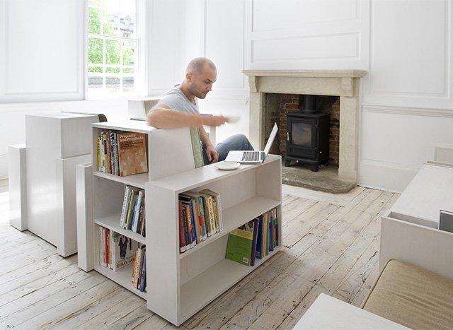 место для экономного хранения книг