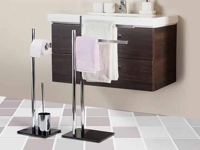 напольная стойка для хранения полотенец в ванной