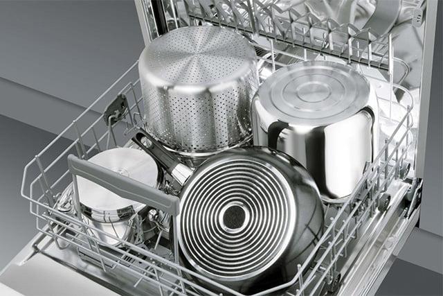 сковороды и кастрюли в посудомоечной машине
