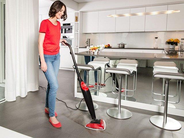 чистка пола на кухне