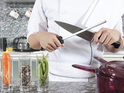 Заточка ножа мусатом