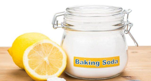 Сода и лимон для отбеливания