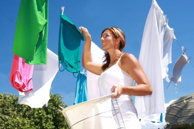 Сушить одежду правильно