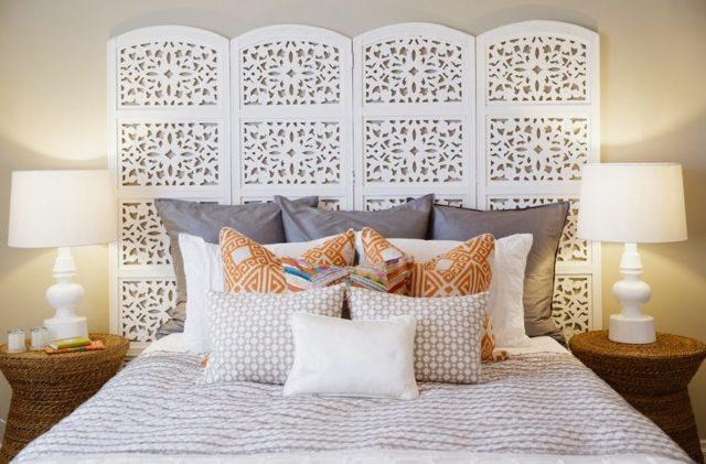Как красиво оформить изголовье кровати